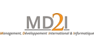 Logo de MD2I, Management of IT and financial projects in Madagascar